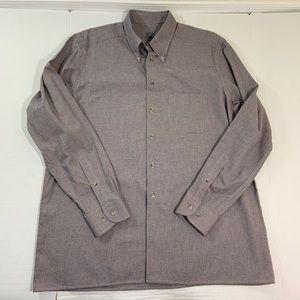 Men's Eton Button Front Dress Shirt 17.5 44